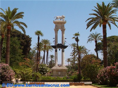 Monumento a col n en los jardines de murillo obra del for Jardines de murillo